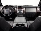 The 2013 F-Series Super Duty with MyFord Touch. An eight-inch,high-resolution touch screen display gives drivers easy access to phone, climate control, entertainment and navigation features along with a dramatically expanded voice control vocabulary.