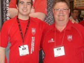 Jean-Sebastien Simard (l), member of WorldSkills Team Canada, together with his trainer Pierre Payette, were a star attraction at Wolseley's MCEE 2013 booth. Look for more on Jean-Sebastien in HPAC April, online now and coming soon to your mailbox.