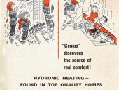 This ad ran in 1966 in HPAC and shows the ongoing focus on attracting builders to hydronic heating.