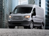 Compared to Ford's E-Series standard-size cargo vans, the 2015 Transit gets 25 per cent better fuel economy