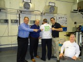 Emerson's contractor business development team, from left: Ron McLaughlin, John Rabbito, Alain Mongrain (also in inset) and Trevor Matthews.