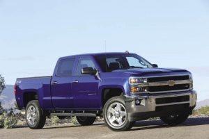 Chevrolet's Silverado, shown here, and GMC Heavy Duty trucks get digital steering assist on some crew cab models to improve stability and steering feel.