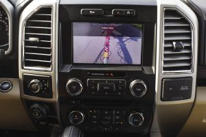 Ford F-150 Trailer Backup Assist console screen.