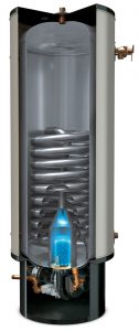 Stainless steel direct fired water heater