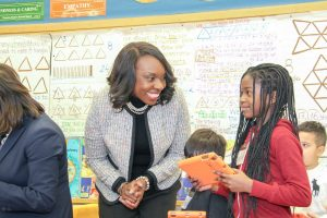 Minister of Education Mitzie Hunter announces energy efficient upgrades