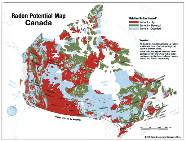 Radon Concentration Map Canada Passive systems show promise as radon mitigation system of choice
